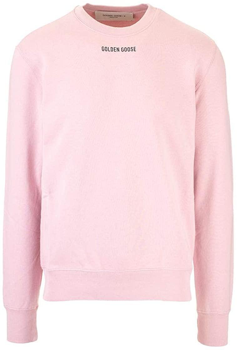 Luxury Fashion | Golden Goose Man GMP00470P00020725532 Pink Cotton Sweatshirt | Fall Winter 20