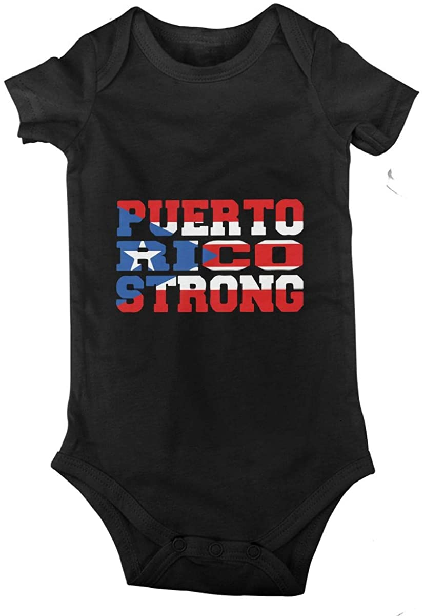 Puerto Rico Strong Baby Climbing Clothes Short Sleeved Bodysuit