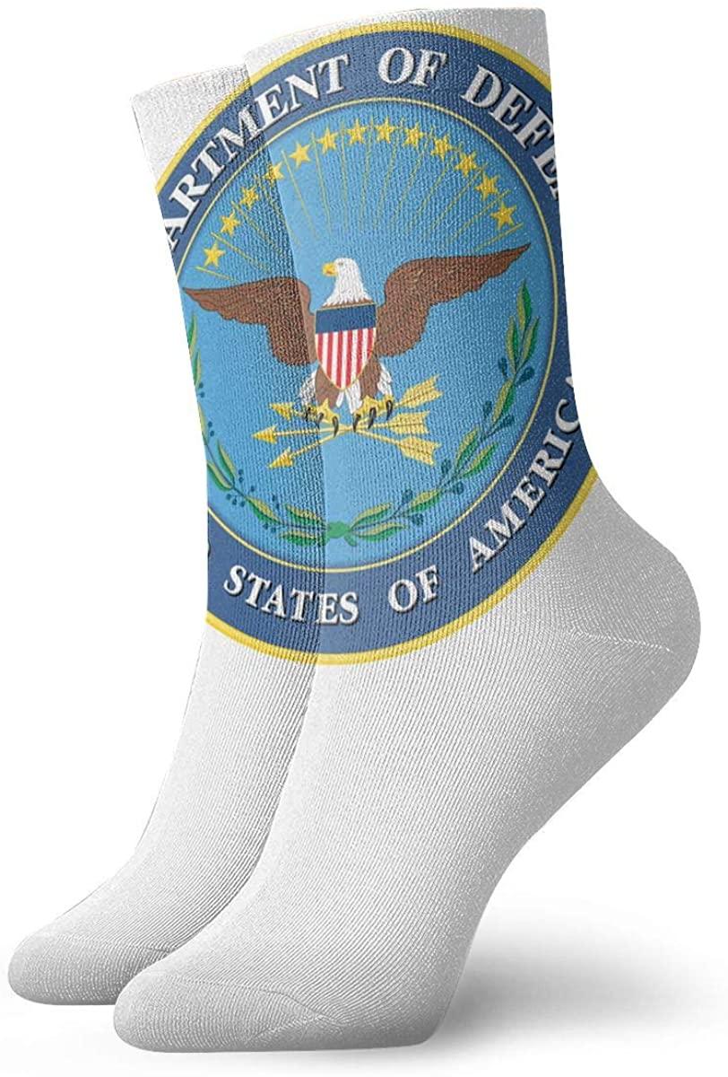 Unisex U.S. Department Of Defense Athletic Stockings Crew Socks Sports Outdoor For Men Women