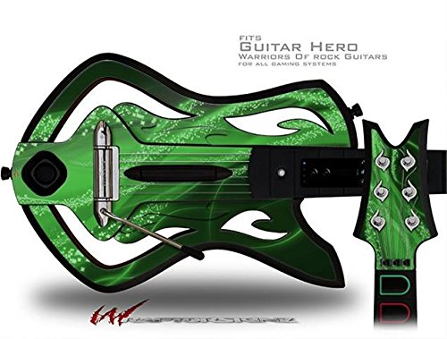 Mystic Vortex Green Decal Style Skin - fits Warriors Of Rock Guitar Hero Guitar (GUITAR NOT INCLUDED)