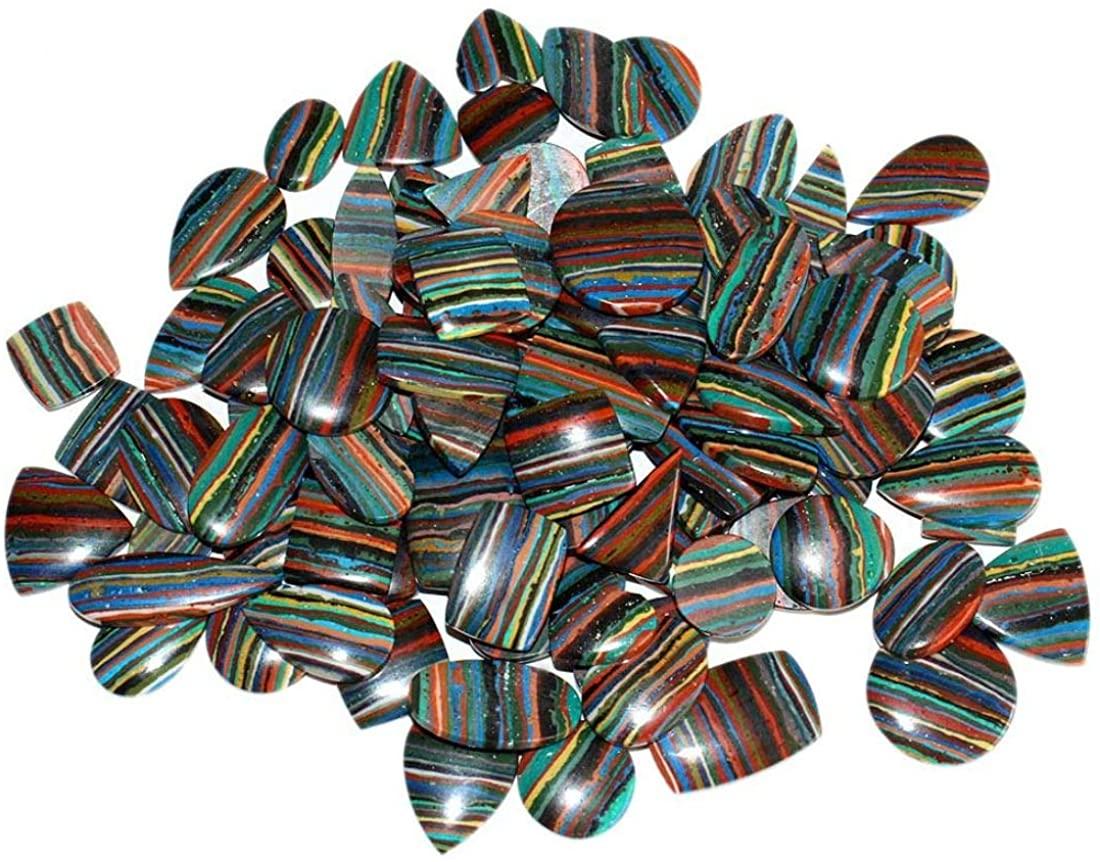 SuperShineGems Natural Rainbow CALSILICA 1500CTS Mix CABOCHON Loose Gemstone LOT