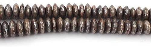 GemAbyss Beads Gemstone Big Halloween Sale 1 Long Strand Brown Silverite German Cut Rondelles - Wheel Rondelle Beads 8mm-12mm 16 Inch SB2531 Code-MVG-36545
