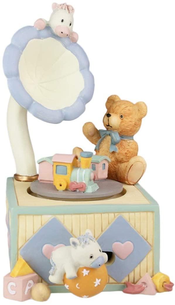ZhihuaHd Bear Gramophone Music Box Music Box to Send Girls Kids Girlfriends Christmas Birthday Gift Beautiful Home Decorations