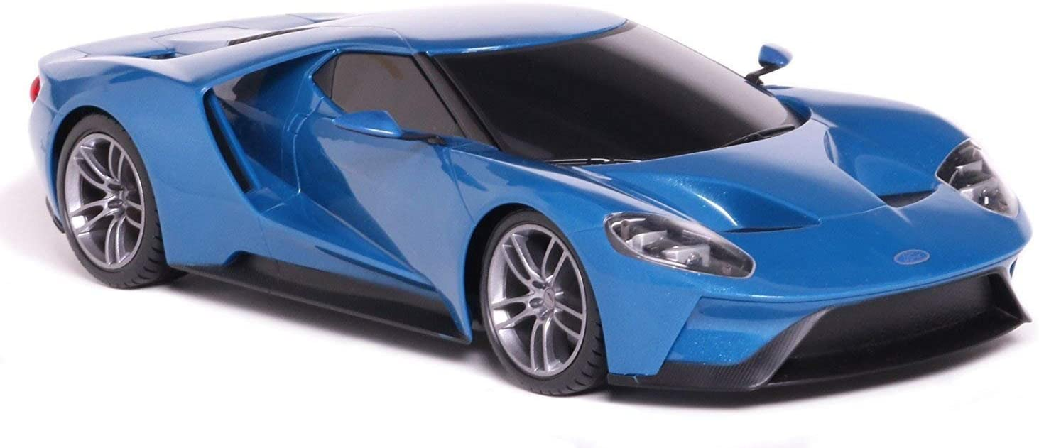 MaiSto Tech R/C 1:6 Scale Ford GT Blue Pro style Controller Working Headlights