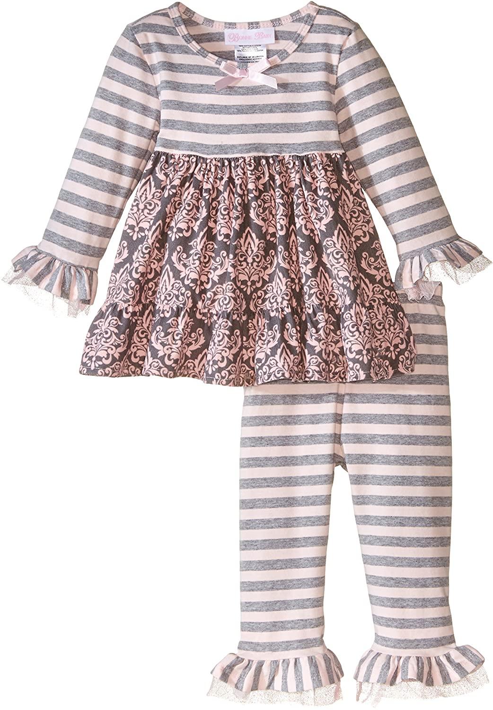 Bonnie Baby Baby Girls Stripe To Toile Print Skirt Legging Set