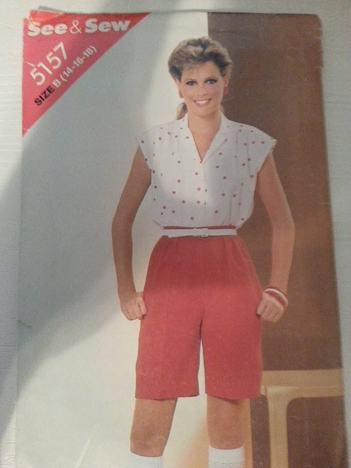 Butterick 5157 Misses See & Sew Shorts & Blouse Size B ((14-16-18)