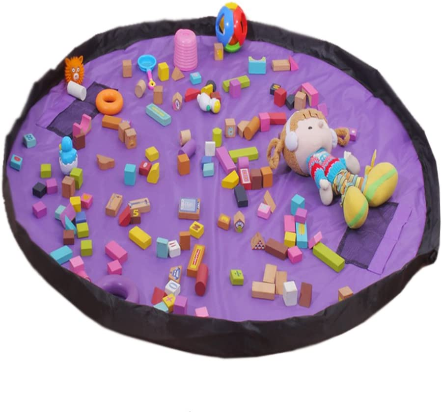 Oversized Baby Toy Quick Pouch Travel Picnic Mat 59 Inch (Purple)