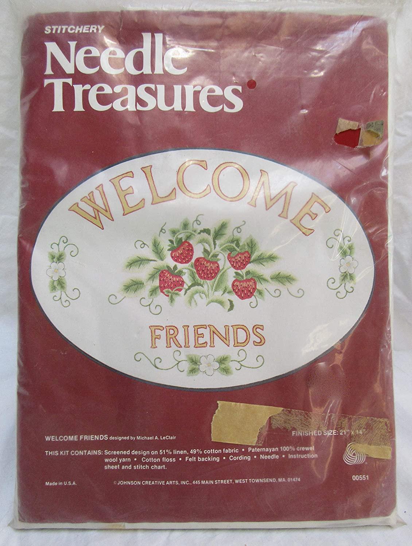 Stitchery Needle Treasures: Welcome Friends