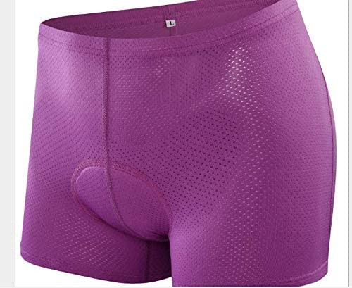 2018 Women Cycling Underwear 3D Gel Padded Bike Bicycle Shorts Comfortable Cycling Shorts Under Clothing Special Purple&Ropseink (xxl, purple)