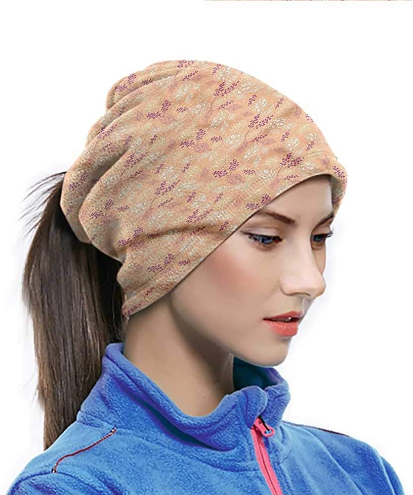 Sun Hat Leaves, Doodle Foliage Dots Thermal Neck Warmer Great for running and Material is So Soft 10 x 11.6 Inch