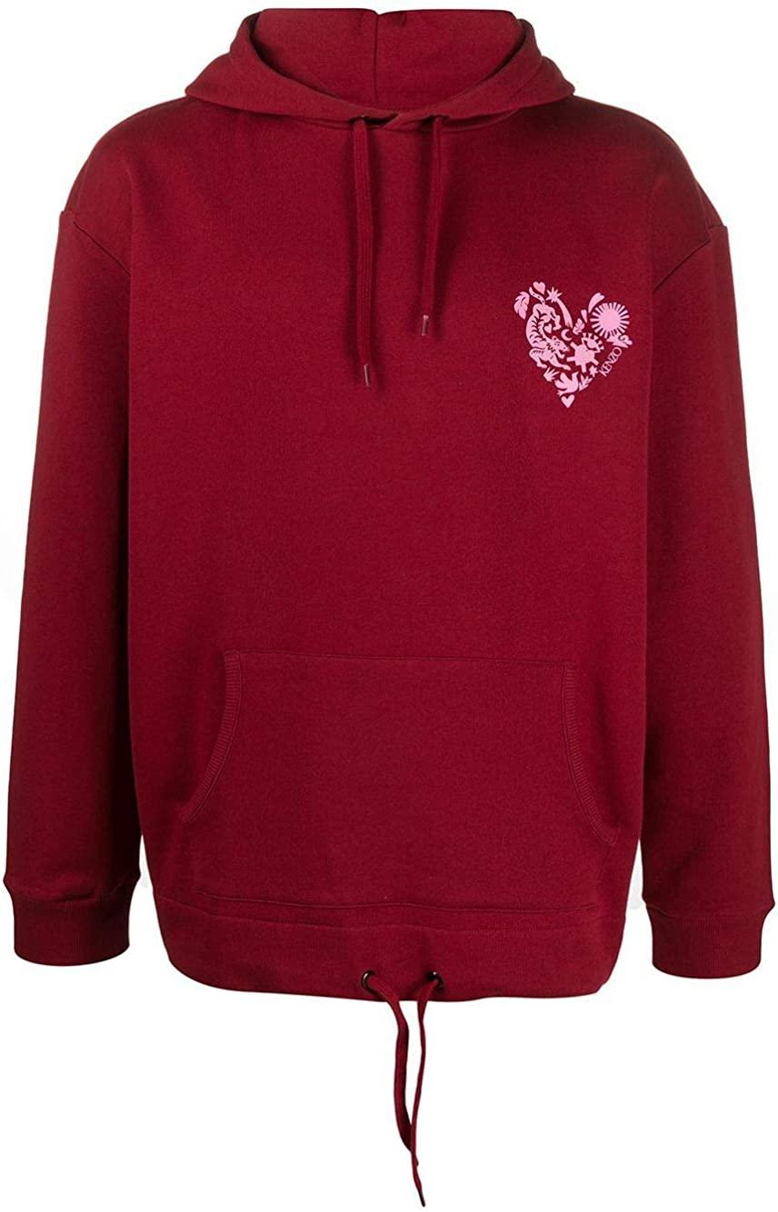Kenzo Luxury Fashion Man FA55SW5624Z823 Burgundy Cotton Sweatshirt | Spring Summer 20