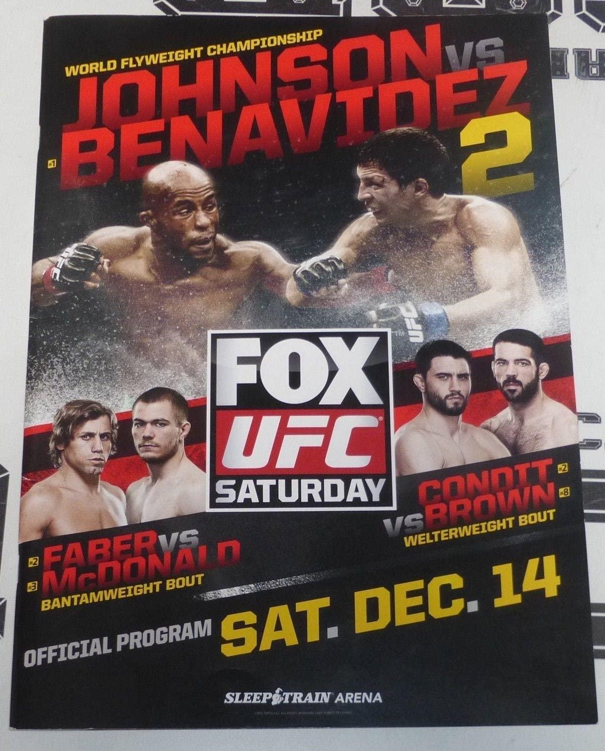 UFC on Fox 9 25x Signed Event Program PSA/DNA w/Demetrious Johnson Urijah Faber - Autographed UFC Miscellaneous Products