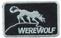 Metal Gear Solid Werewolf Embroidery Patch Military Tactical Morale Patch Badges Emblem Applique Hook Patches for Clothes Backpack Accessories