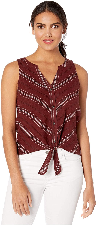 Sanctuary Tie Front Craft Shell Henna Multi Stripe XS (US 2)