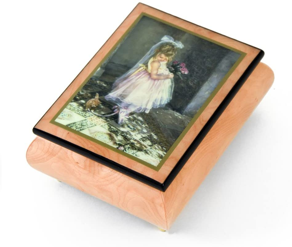 Handcrafted Ercolano Music Box Featuring Little Darling by Sandra Kuck - Many Songs to Choose - Zip A Dee Doo Dan