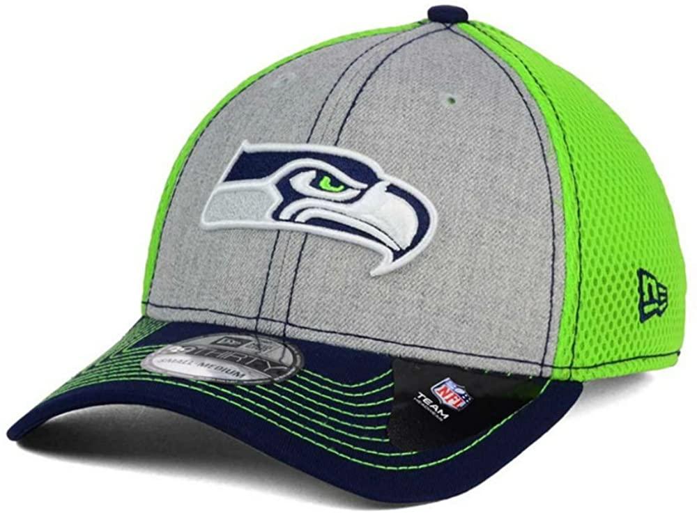 New Era Seattle Seahawks Heathered Neo Flex Fit Small/Medium Lime Green Hat Cap