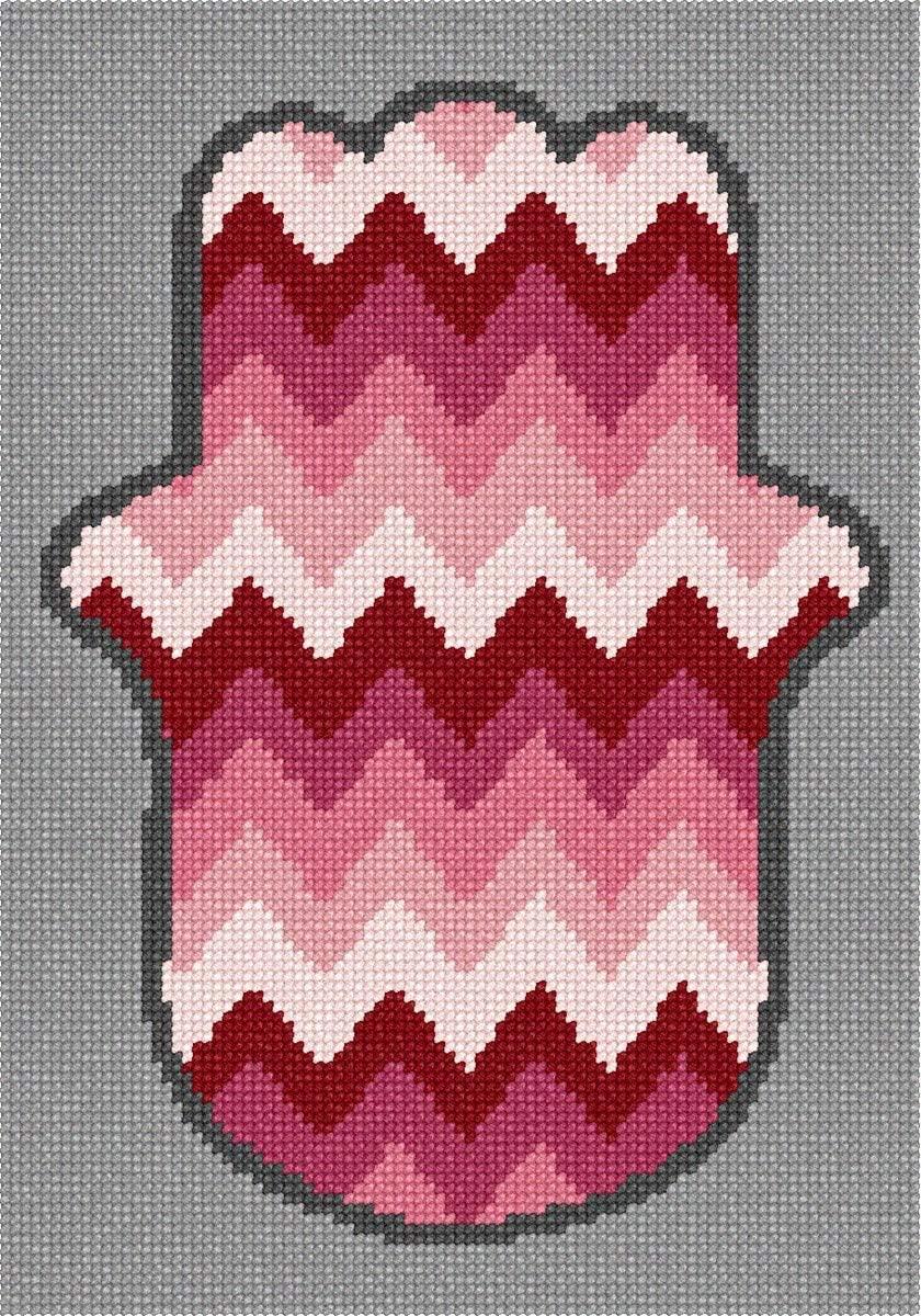 pepita Hamsa Chevron Needlepoint Kit