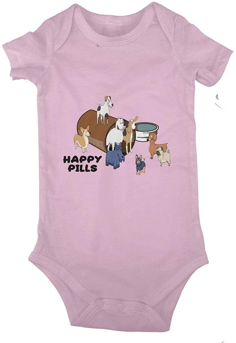 Happy Pills Corgi Dog Baby Climbing Clothes Short Sleeved Bodysuit