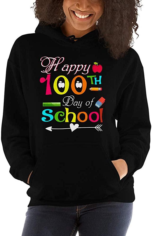 TEEPOMY Happy 100th Day of School for Teacher Student Gift Unisex Hoodie