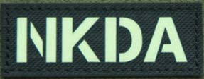 NKDA Drug Allergy Infrared Reflective IR Patch Military Tactical Morale Patch Badges Emblem Applique Hook Patches for Clothes Backpack Accessories