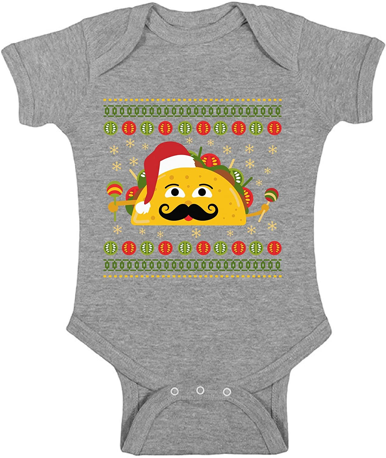 Awkward Styles Ugly Christmas Baby Outfit Bodysuit Xmas Taco Romper