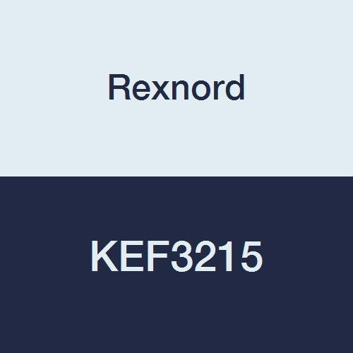 Rexnord KEF3215 Flange Block, 4-Bolt Flange, Eccentric Lock, Non-Expansion, Light Contact Seals, Cast Iron, 2-15/16
