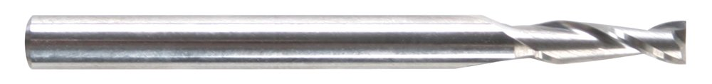 Morse Cutting Tools 52571 Regular Length Single End Mills, Solid Carbide, Center Cutting, Bright Finish, Square End, 2 Flutes, 0.046