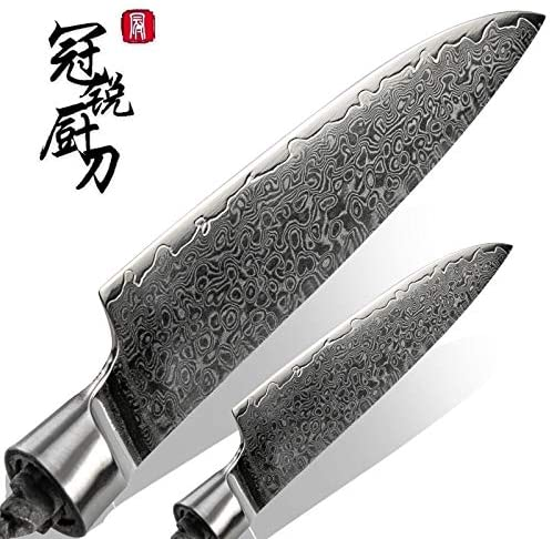 Best Quality Kitchen Knives Damascus Kitchen Knife Blank Blade VG10 Japanese Damascus Steel DIY Tools Kitchen Knives Parts Hobby Chef Knife 67 Layers PRO