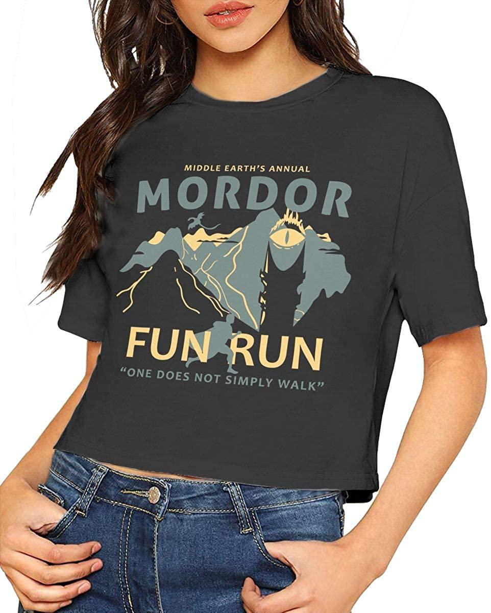 Mordor Ladies Casual Loose Blouse, Comfortable Short, Crop Top