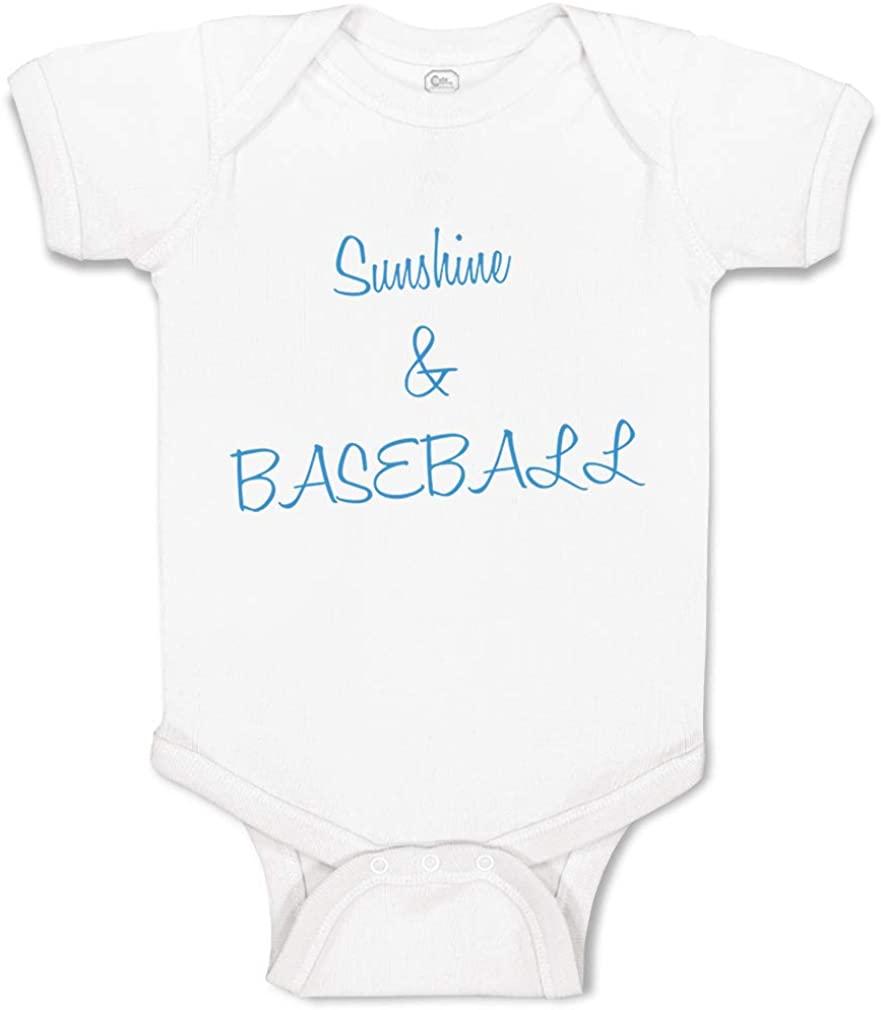 Custom Baby Bodysuit Sunshine Baseball Ball Game Funny Cotton Boy & Girl Clothes