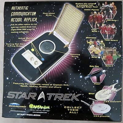 Diamond Select Real Metal Grille Black Box 2007 Original Series Star Trek Communicator