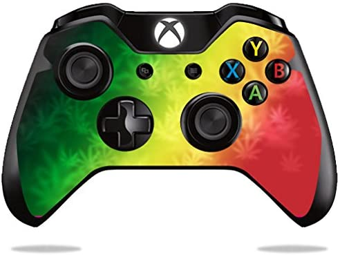 MightySkins Skin Compatible with Microsoft Xbox One or One S Controller - Rasta Rainbow | Protective, Durable, and Unique Vinyl wrap Cover | Easy to Apply, Remove, and Change Styles | Made in The USA