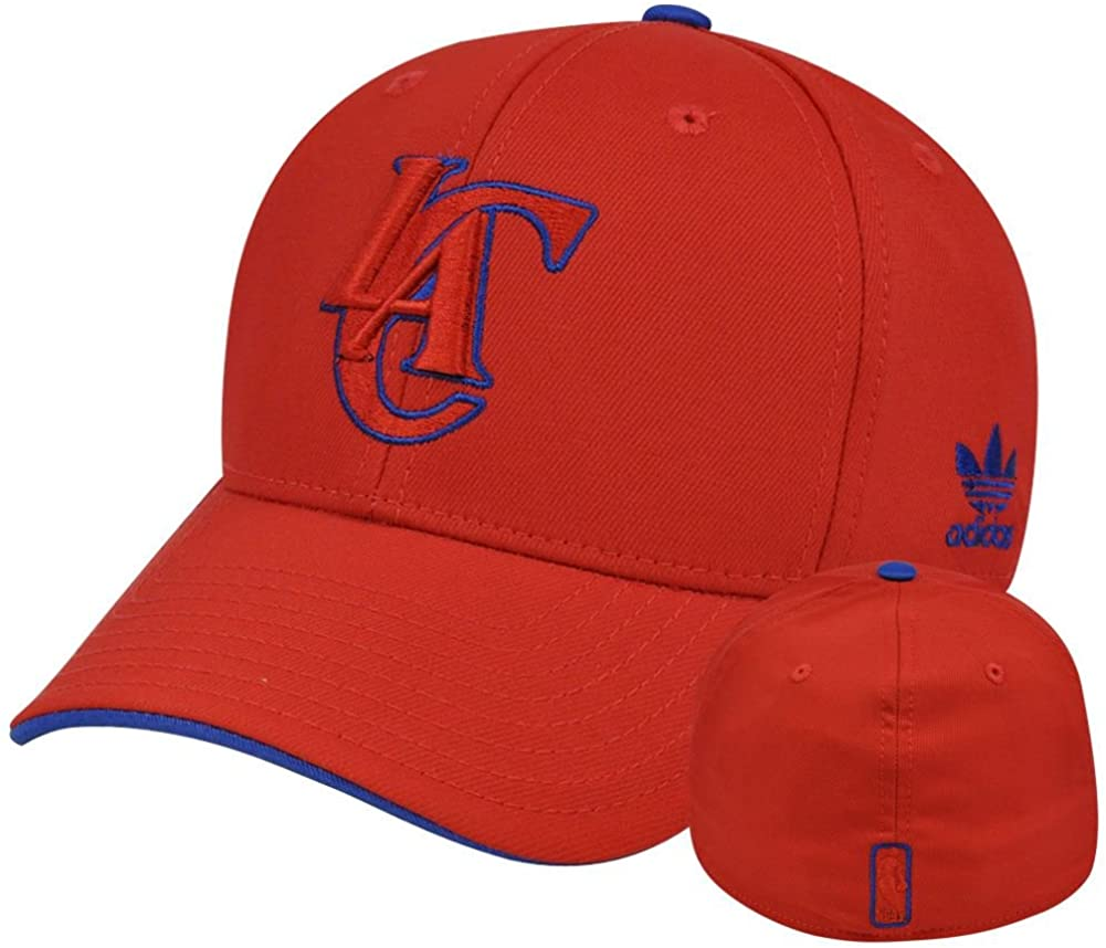 Los Angeles Clippers Adidas Large/X-Large Flex Fit Hat Cap - New L/XL 7 1/4-7 3/4 Red