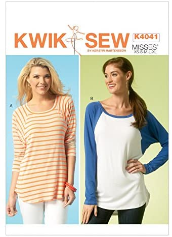 KWIK SEW Ladies Easy Sewing Pattern 4041 Slouchy Jersey Tops