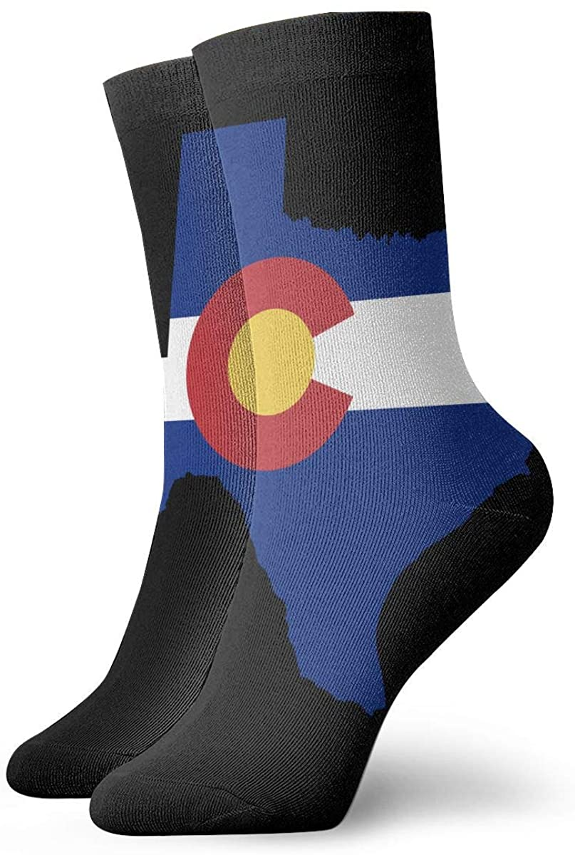 Colorado Flag Texas Outline Short Crew Socks Dress Socks Athletic Socks