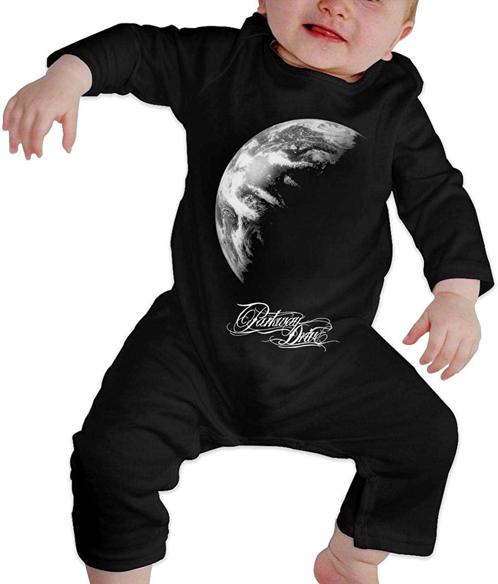 Watkinsmarket Parkway Drive Baby Boy Girl Jumpsuit Jumpsuit Baby Newborn Cotton Long Sleeve Jumpsuit Black