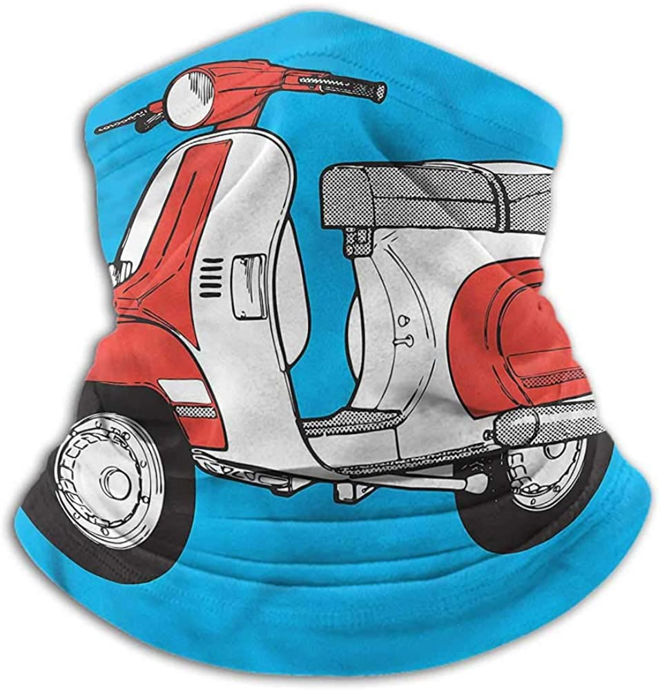 Face Bandanas Funky For Winter Multifunctional Scooter Vintage Motorcycle 10 x 12 Inch