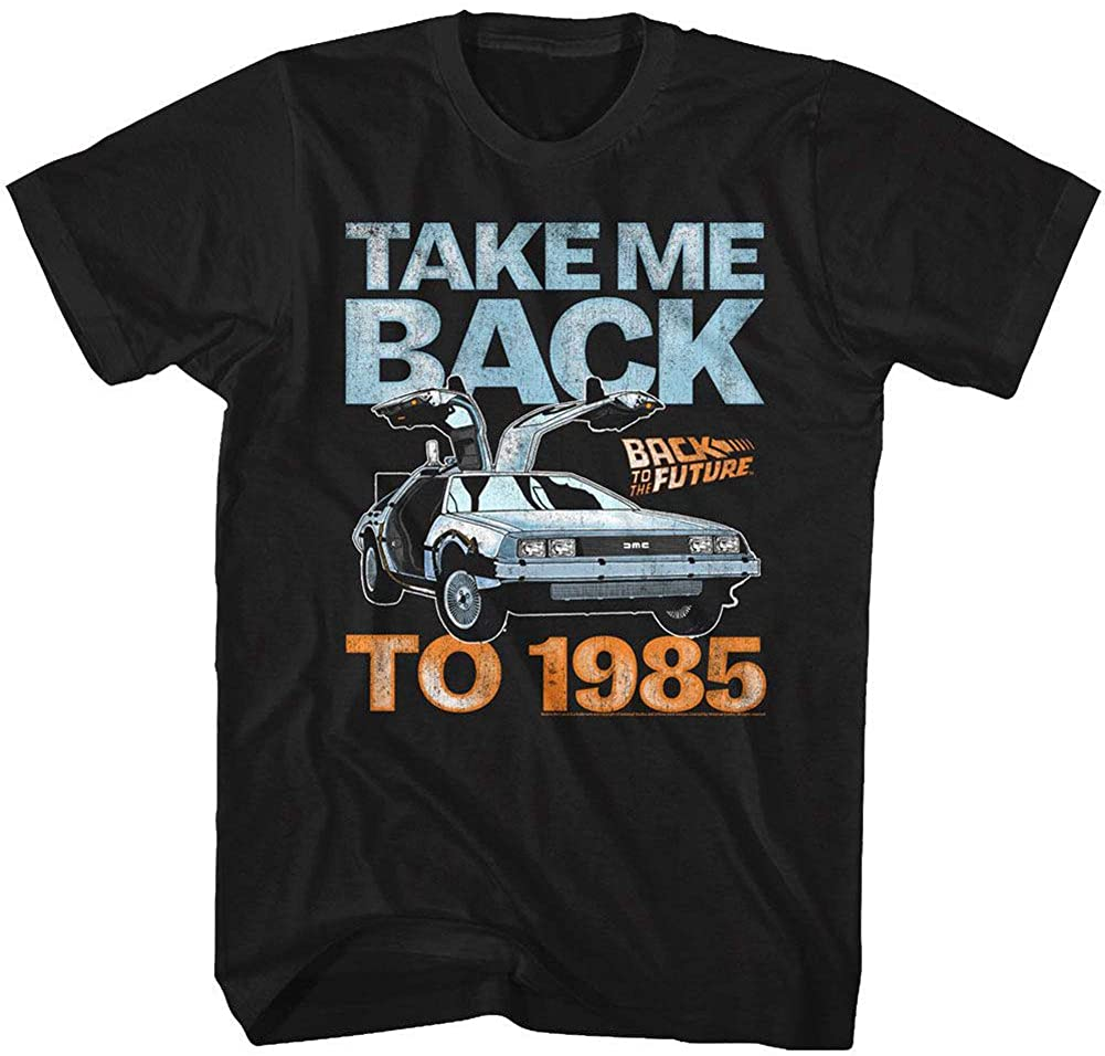 Back To The Future 1985 Comedy Action Movie Take Me Back Adult T-Shirt Tee