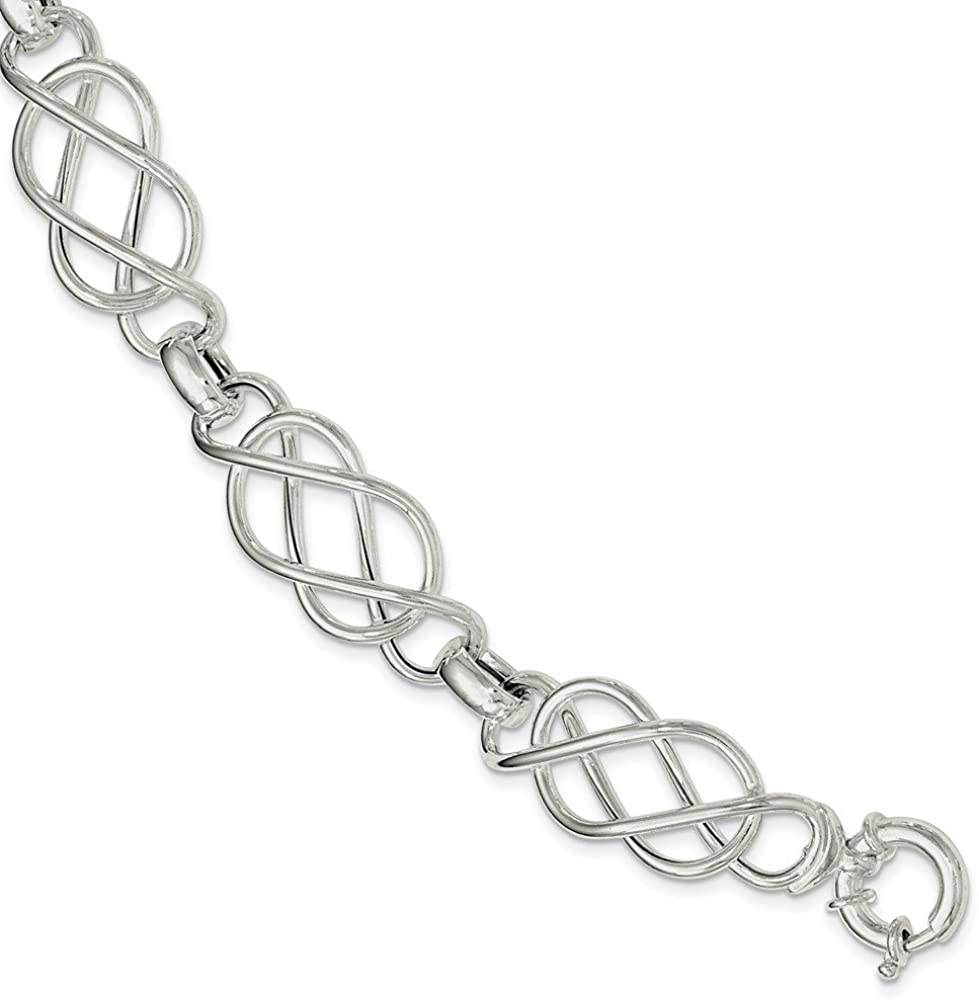 Beautiful Sterling Silver Polished Bracelet