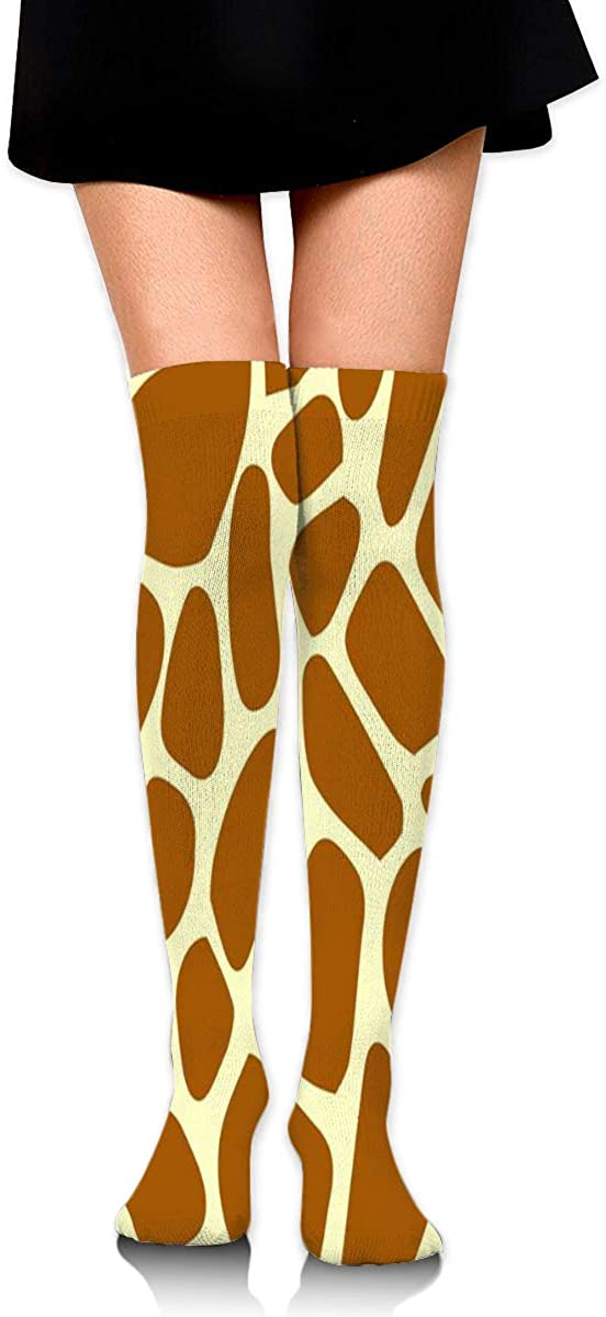 Knee High Socks Giraffe-pattern Women's Athletic Over Thigh Long Stockings