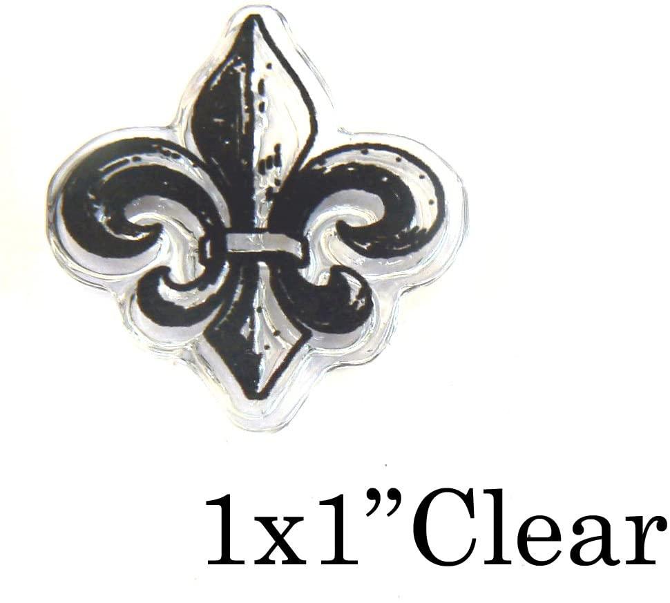 P34 Fleur de lis Clear Polymer Rubber Stamp