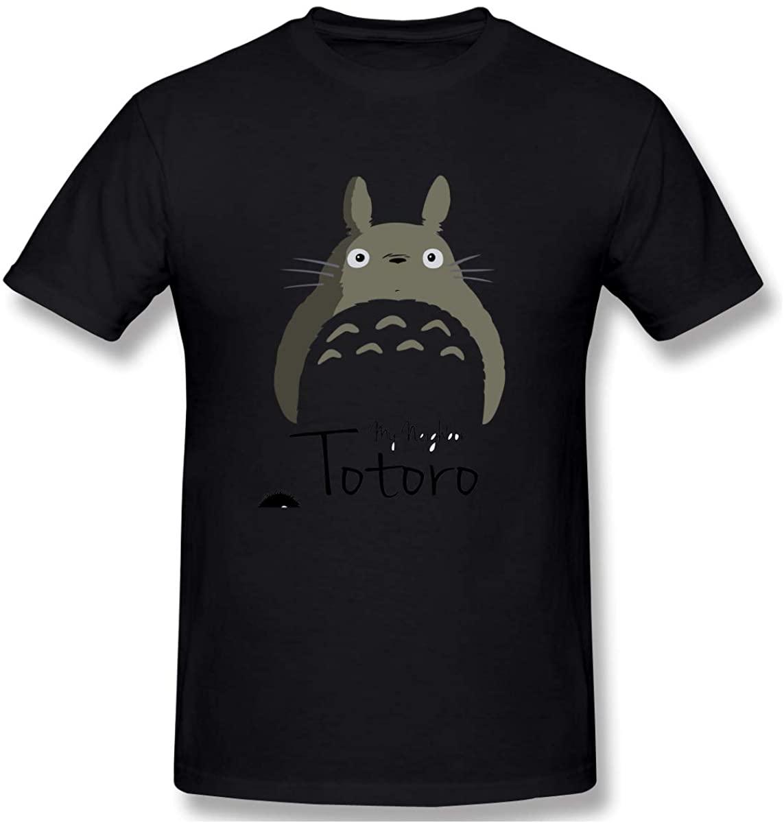 XIVEIER Geek Miyazaki Tonari No Totoro T Shirt for Man Black M.