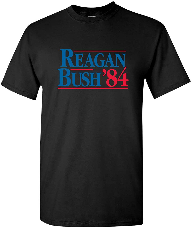 Reagan Bush 84 - Presidential Vintage Conservative Graphic T Shirt