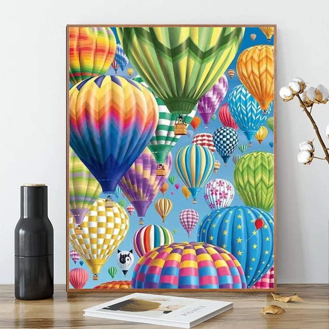 Karyees Balloon Paint by Numbers Hot Air Balloon Paint by Numbers Balloon DIY Canvas Painting by Numbers Acrylic Painting Home Decor Balloon Paint by Numbers for Adults Kids Hot Air Balloon 16x20In