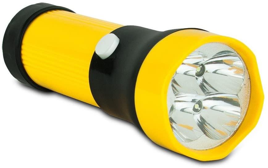 By-Generic Light Led Flashlight, 4 Bright Bulbs Battery Survival Work Bright Led Flashlight
