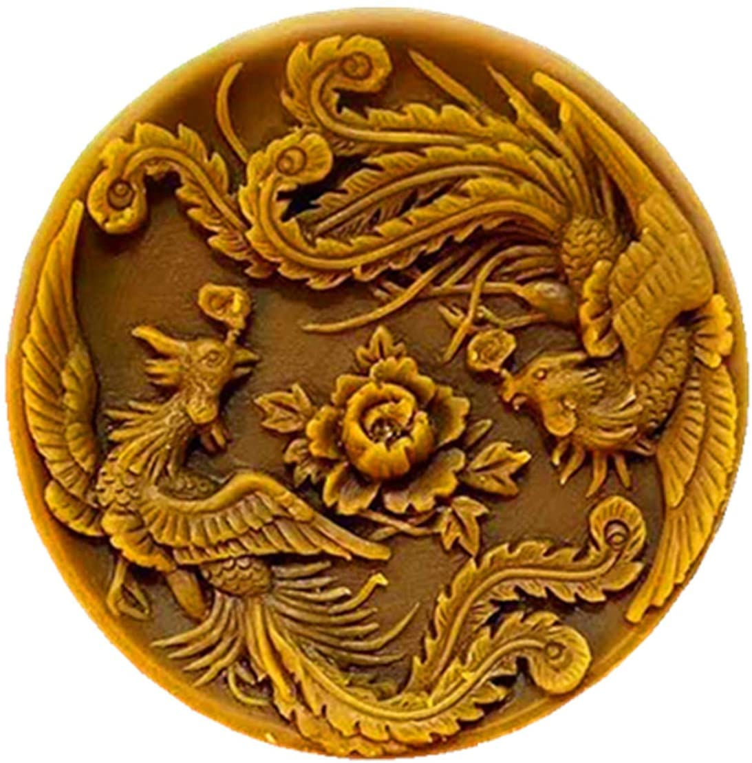 Phoenix Design Round Silicone Soap Mold Scented Candle Wax Mould Decorating Resin Plaster Crafts Molds