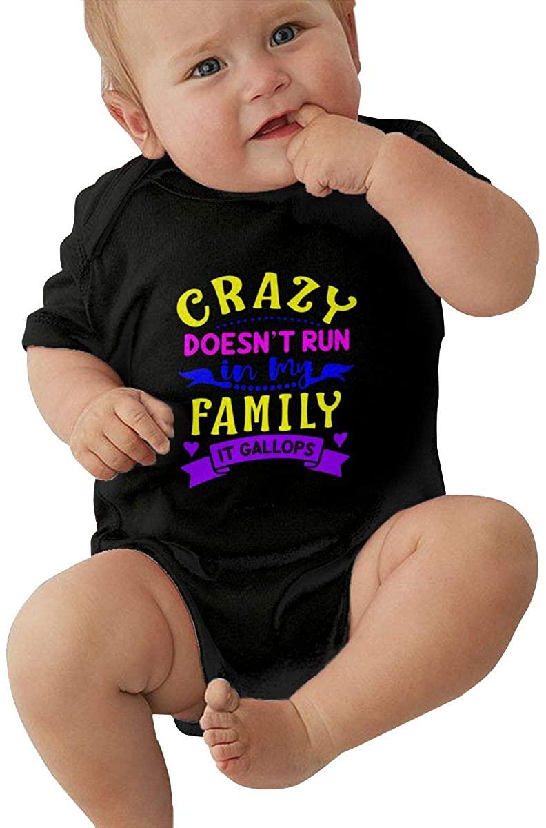 Crazy Family Baby Bodysuit Boys Infant Jumpsuit Organic Cotton Outfit