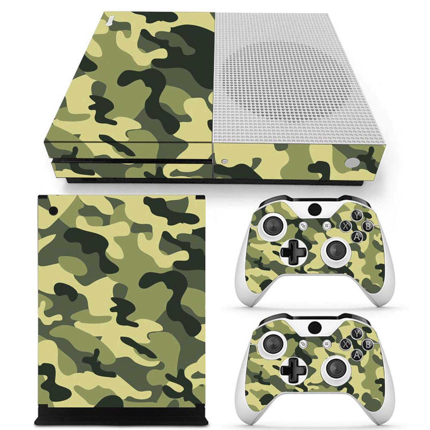 Camouflage Vinyl Skin Sticker Protector for Microsoft Xbox One SLIM and 2 controller skins Stickers for XBOXONE S,2