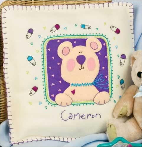 Dimensions Lil Tots Welcome Baby Pillow Fleece/Felt Applique Kit