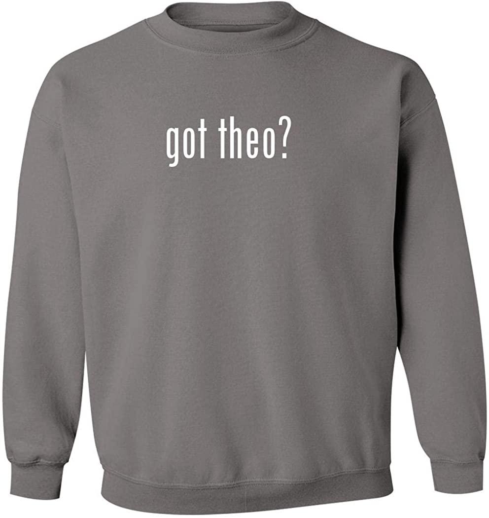 got theo? - Men's Pullover Crewneck Sweatshirt, Grey, X-Large